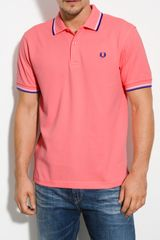 Fred Perry Trim Fit Twin Tipped Polo - Lyst
