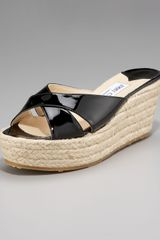 Jimmy Choo Crisscross Espadrille Wedge - Lyst