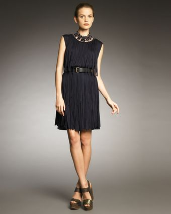 Lanvin Fringe Dress - Lyst