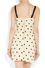 Marc By Marc Jacobs Hot Dot Ruffled Silk Dress in Beige (cream) - Lyst