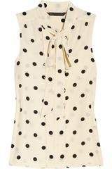 Marc By Marc Jacobs Hot Dot Silk Blouse - Lyst