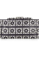 Marni Printed Leather Clutch - Lyst