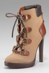 Tory Burch Lawson Lace-up Platform Bootie - Lyst
