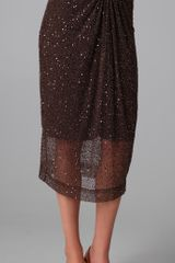 Alice + Olivia Lacey Draped Sequin Skirt - Lyst