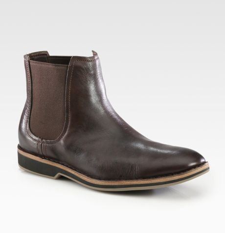 cole haan oswego chelsea boot in brown for lyst