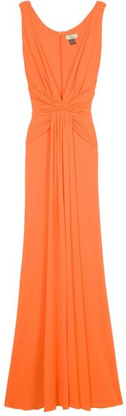 Issa Plunge Front Gown in Orange