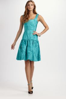 Oscar de la Renta Silk Taffeta Dress - Lyst
