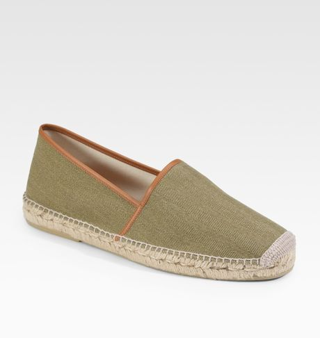 ralph lauren herringbone espadrilles in green for men olive lyst. Black Bedroom Furniture Sets. Home Design Ideas