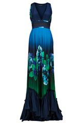 Roberto Cavalli Lombok Print Dress in Blue - Lyst