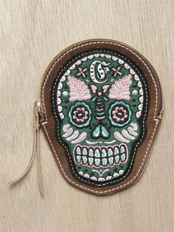 Sasquatchfabrix Eototo Mens Embroidered Skull Coin Purse - Lyst