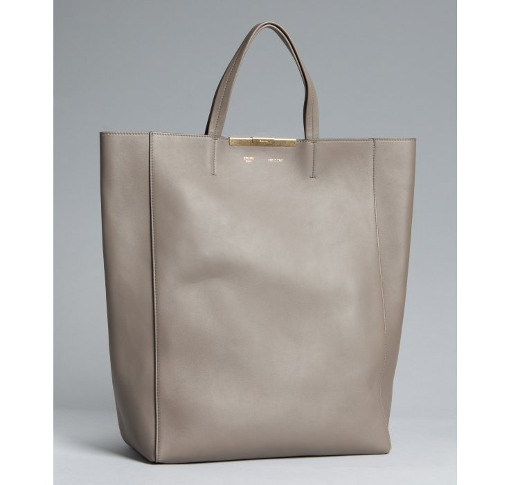 C¨¦line Grey Calfskin Cabas Shopping Tote in Gray (grey) | Lyst