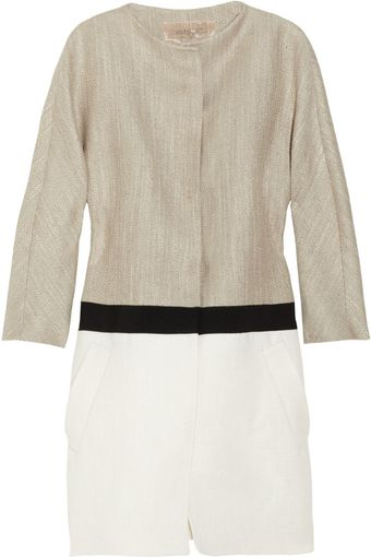 Giambattista Valli Color-blocked Woven Coat - Lyst