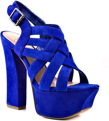 Jessica Simpson Petra - Blue Iris Suede in Blue