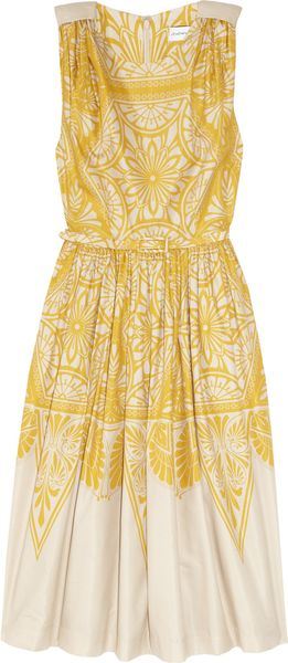 Jonathan Saunders Renton Printed Cotton and Silk-blend Dress - Lyst