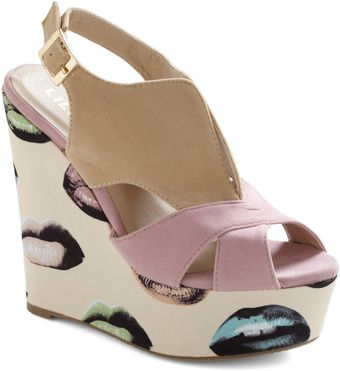 ModCloth Kicks and Tell Wedge - Lyst
