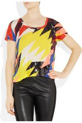Sass & Bide Silence Is Golden Embellished Cotton Tshirt in Multicolor (multicolored) - Lyst