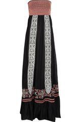 Alice By Temperley Embroidered Cotton Maxi Dress - Lyst