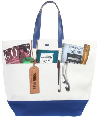 Anya Hindmarch Print Canvas Tote Bag - Lyst