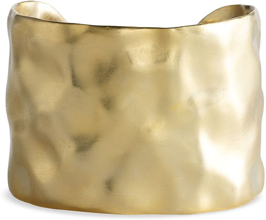 Nordstrom Gold Water Textured Cuff in Gold (worn gold)