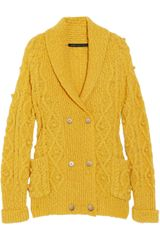 Marc By Marc Jacobs Beth Double-breasted Wool-blend Cardigan - Lyst