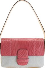 Marc Jacobs Python Colorblock Violet Bag - Lyst