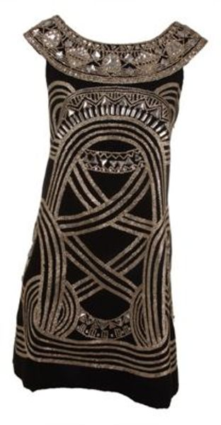 Marchesa A Line Embroidered Dress - Lyst