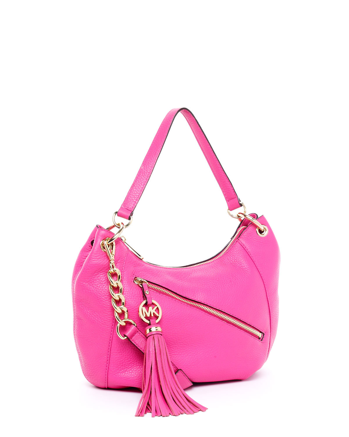 c098c4613f8b Michael Kors Charm-Tassel Convertible Shoulder Bag, Zinnia in Pink ...