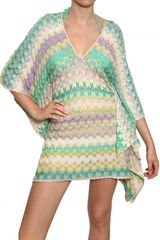 Missoni Leaf Cotton Viscose Knit Dress - Lyst