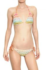 Missoni Reversible Slub Viscose Knit Bikini Bath - Lyst