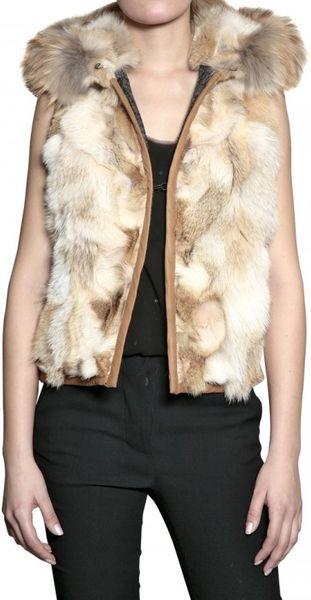 Mr Mrs Furs Coyote And Murmansky Patwork Fur Coat In