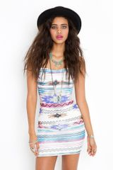 Nasty Gal Azteca Dress - Lyst