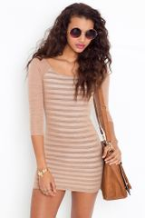 Nasty Gal Striped Slub Dress