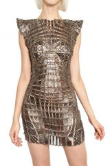 Paco Rabanne Metal Chain and Python Insert Dress