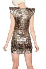 Paco Rabanne Metal Chain and Python Insert Dress in Gold - Lyst