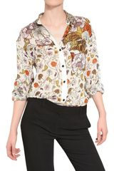 Proenza Schouler Printed Silk Chiffon Shirt in Multicolor (white) - Lyst
