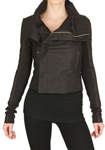 Rick Owens Biker Velo Leather Jacket - Lyst