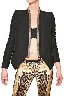 Roberto Cavalli Beaded Cool Wool Jacket - Lyst