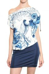 Roberto Cavalli Printed Lycra Dress - Lyst