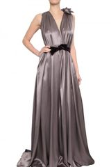Roksanda Ilincic Draped Silk Satin Two Tone Dress - Lyst