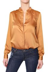 See By Chloé Stretch Satin Shirt - Lyst