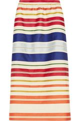 Stella McCartney Deckchairstriped Twill and Sateen Skirt - Lyst