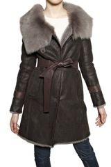 V.sp Shearling Fur Coat - Lyst