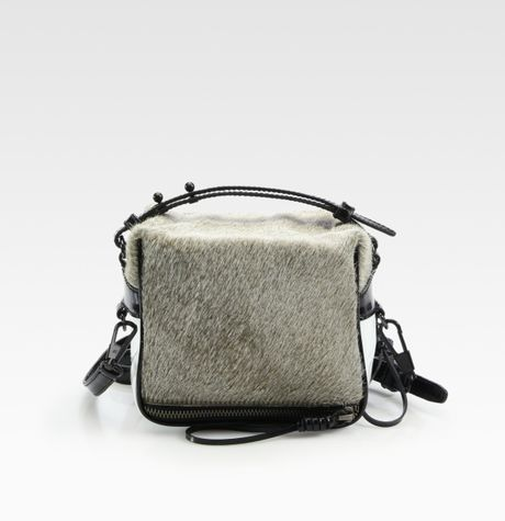 3.1 Phillip Lim Colorblock Haircalf & Patent Leather Crossbody Bag in Gray (grey) - Lyst