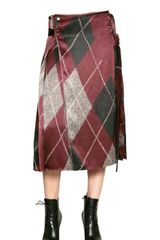 Altuzarra Checked Silk Satin Wrap Skirt - Lyst