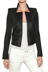 Balmain Silk Lapel Cool Wool Jacket - Lyst