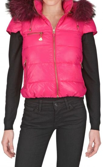 Beayukmui Racoon Collar Nylon Down Jacket - Lyst