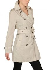 Burberry Brit Buckingham Nylon Trench Coat in Beige (ivory) - Lyst