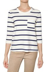 Burberry Brit Lori Striped Jersey Top - Lyst