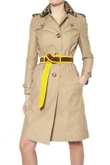 Burberry Prorsum Cotton Gabardine Trench Coat - Lyst