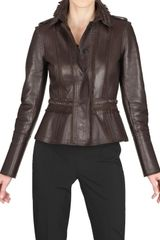 Burberry Prorsum Embroidered Double Leather Jacket - Lyst